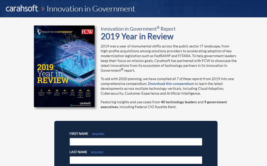 IIG 2019 Compendium landing page screenshot