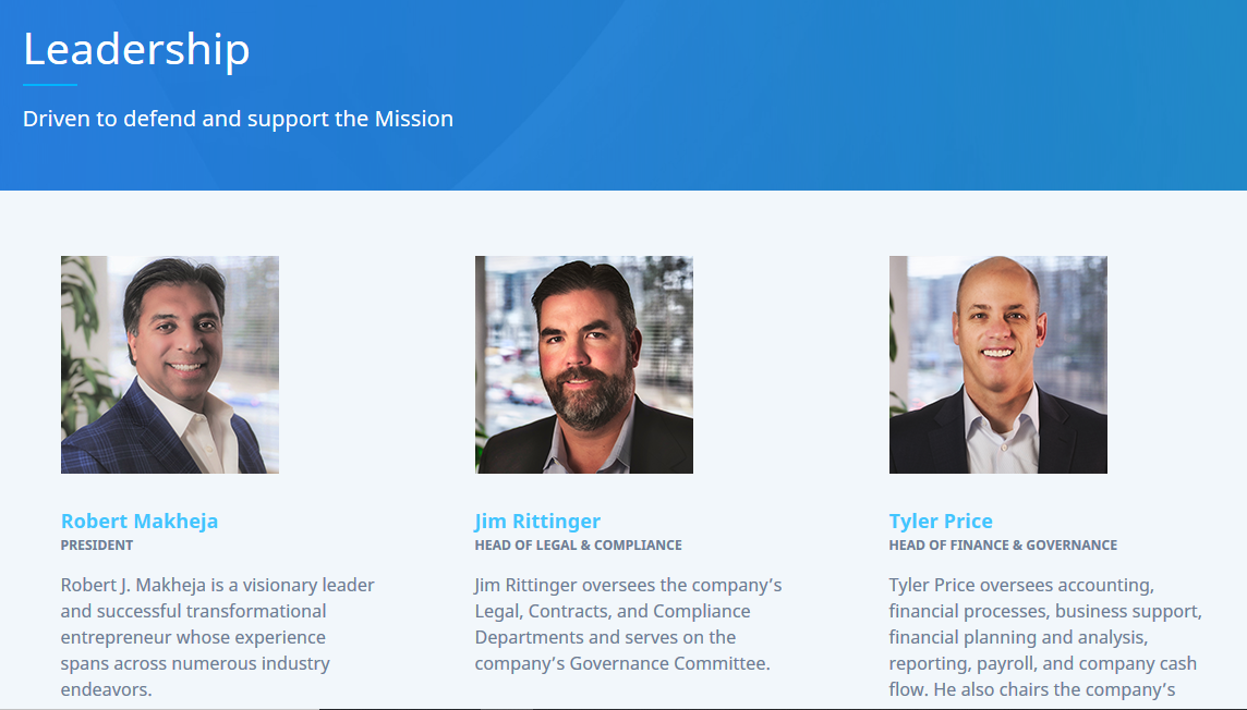 MFGS Leadership Page screenshot
